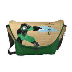 Rickshaw Medium Zero Messenger Bag with Hero Wasabi's Plasma Blades design