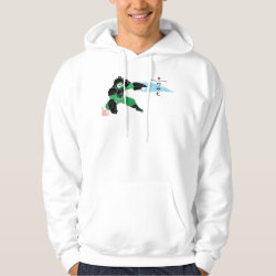 Men's Basic Hooded Sweatshirt with Hero Wasabi's Plasma Blades design