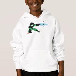 Girls' American Apparel Fine Jersey T-Shirt with Hero Wasabi's Plasma Blades design