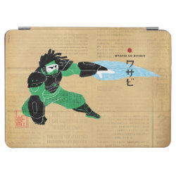 iPad Air Cover with Hero Wasabi's Plasma Blades design