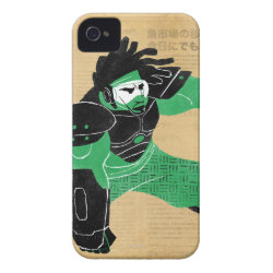 Case-Mate iPhone 4 Barely There Universal Case with Hero Wasabi's Plasma Blades design