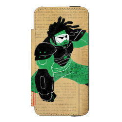 Incipio Watson™ iPhone 5/5s Wallet Case with Hero Wasabi's Plasma Blades design