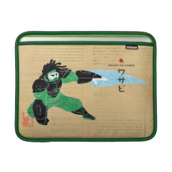 Macbook Air Sleeve with Hero Wasabi's Plasma Blades design