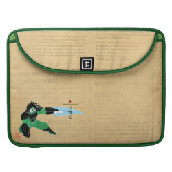 Macbook Pro 15' Flap Sleeve with Hero Wasabi's Plasma Blades design