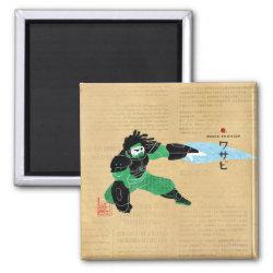Square Magnet with Hero Wasabi's Plasma Blades design