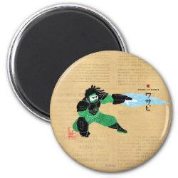 Round Magnet with Hero Wasabi's Plasma Blades design