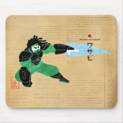 Mousepad with Hero Wasabi's Plasma Blades design