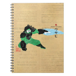 Photo Notebook (6.5' x 8.75', 80 Pages B&W) with Hero Wasabi's Plasma Blades design