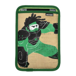 iPad Mini Sleeve with Hero Wasabi's Plasma Blades design
