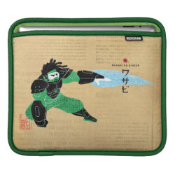iPad Sleeve with Hero Wasabi's Plasma Blades design