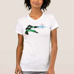 Women's American Apparel Fine Jersey Short Sleeve T-Shirt with Hero Wasabi's Plasma Blades design