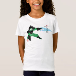 Girls' Fine Jersey T-Shirt with Hero Wasabi's Plasma Blades design