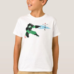 Kids' Hanes TAGLESS® T-Shirt with Hero Wasabi's Plasma Blades design