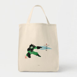 Grocery Tote with Hero Wasabi's Plasma Blades design