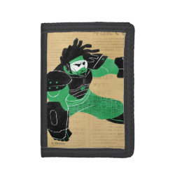 TriFold Nylon Wallet with Hero Wasabi's Plasma Blades design