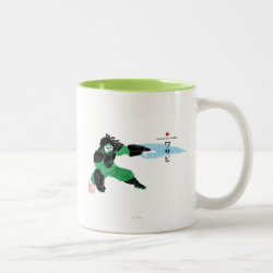 Two-Tone Mug with Hero Wasabi's Plasma Blades design