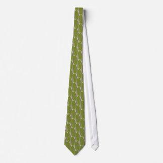 Wasabi shark scale tie