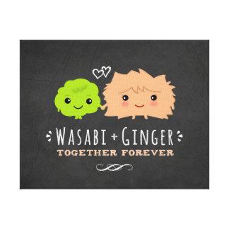 Wasabi y jengibre junto para siempre impresión en lienzo