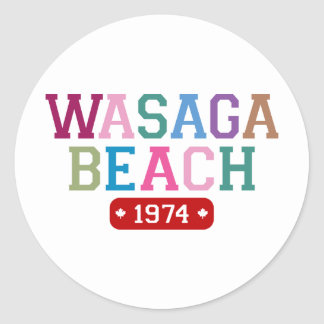 Wasaga Beach 1974 Classic Round Sticker