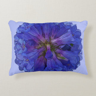 Wasatch Blue Penstemon Floral Accent Pillow