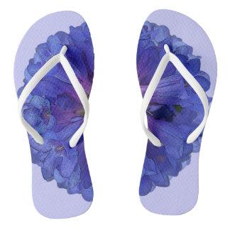 Wasatch Blue Penstemon Flower Flip Flops
