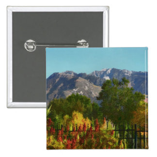 Wasatch Mountain Autumn In Utah 2 Inch Square Button