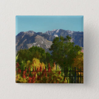 Wasatch Mountain Autumn In Utah Button