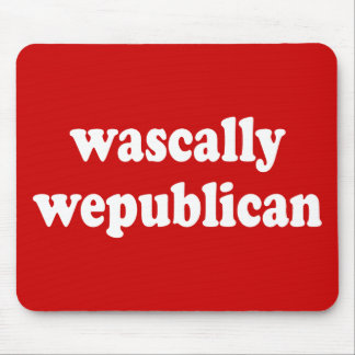 wascally wepublican - rascally republican mouse pad