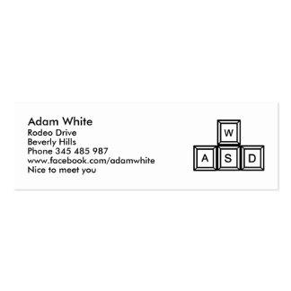 WASD Gaming keys Mini Business Card