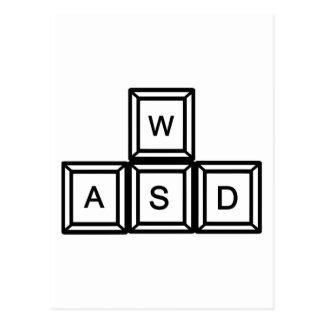 WASD Gaming keys Postcard