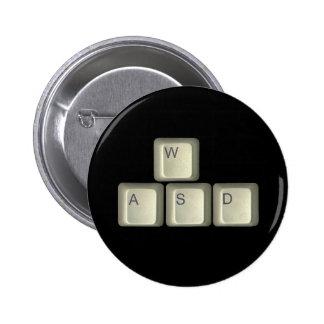 WASD Keys Pinback Button
