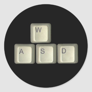 WASD Keys Classic Round Sticker