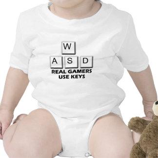 WASD - Real Gamers Use Keys Baby Bodysuits