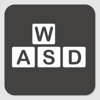 WASD Sticker for computer
