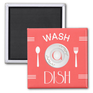 Wash A Dish! 2 Inch Square Magnet