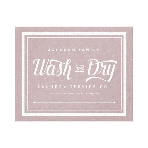 Wash and Dry Laundry Sign (Customize it!)