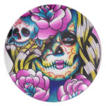 Wash Away Day of the Dead Girl Plates