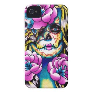 Wash Away Sugar Skull Girl iPhone 4 Case