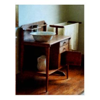 Wash Basin and Towel Postcard
