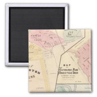 Wash Corners, Haywards Park, Niles, Pleasanton Fridge Magnet