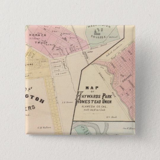 Wash Corners, Haywards Park, Niles, Pleasanton Pinback Button