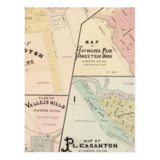 Wash Corners, Haywards Park, Niles, Pleasanton Postcard