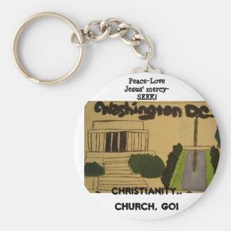 Wash D.C. christian keychain! Basic Round Button Keychain