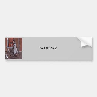 Wash day car bumper sticker