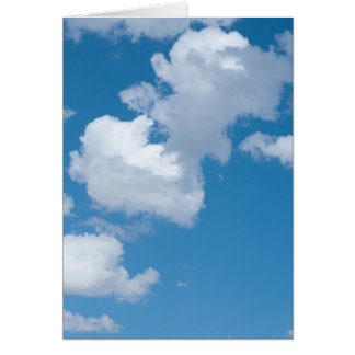Wash Day Poem and Summer Clouds Photograph Greeting Card