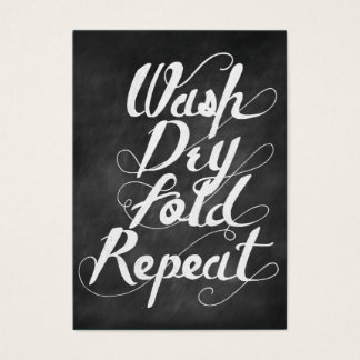 Wash Dry Fold Repeat Business Card