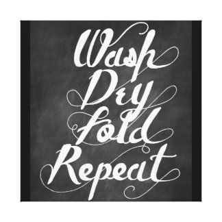Wash Dry Fold Repeat Gallery Wrap Canvas