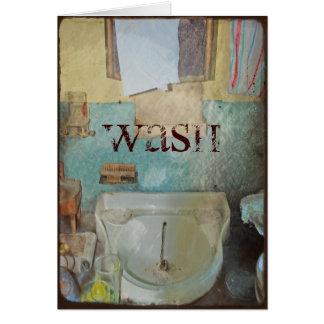 WASH ED UP STATIONERY NOTE CARD