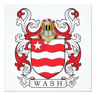 Wash Family Crest Card