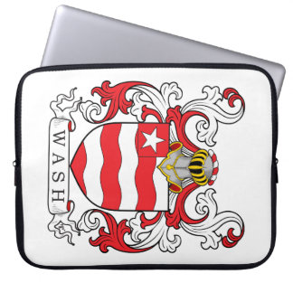 Wash Family Crest Computer Sleeve